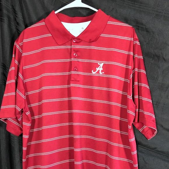 c30cd331312e4 Antigua Shirts | Alabama Crimson Tide Tribute Stripe Polo | Poshmark